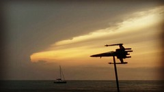 #toytrips my #starwars #xwing at dusk #rtb over #arugambay #srilanka #yooamigo  #ridetheworld with #yooamigo  Sign up online at: www.yooamigo.com   Download our Android app:    https://play.google.com/store/apps/details?id=com.youamigo.activity  Download (yooamigo) Tags: yooamigo xwing toytrips starwars rtb ridetheworld srilanka arugambay