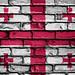 National Flag of Georgia on a Brick Wall