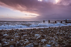Every Passing Minute (NVOXVII) Tags: beach coast pebbles seafront sea waves stormy atmospheric sky moody sunset dusk groyne clouds nikon outdoor emotive