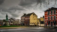 Rainy Day Namur (Ⓨ a s m i n e Ⓗ e n s +4 900 000 thx❀) Tags: landscape rainyday rain statue place namur belgium belgique road sky clouds hensyasmine 7dwf