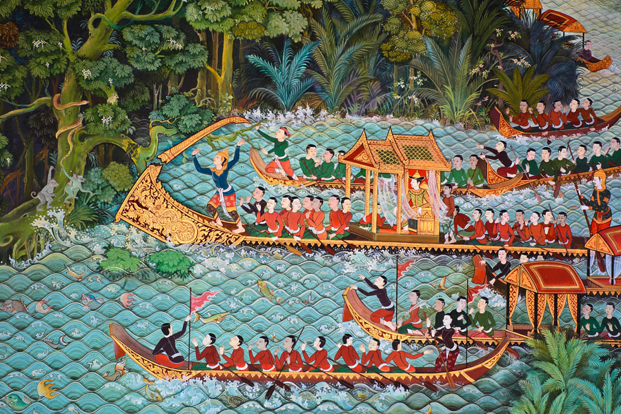 Thai murals are a form of literature in that they tell a story