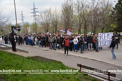 Protestna šetnja u Boru (06.04.2017)