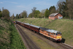 D5830 - 2A29 - Rothley - 09/04/17 (D9000RoyalScotsGrey Photography) Tags: class 31 d5830 t1lc type 1 loco company 2a29 great central railway rothley leicester north loughborough gcr ped