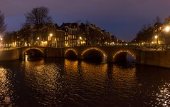 Amsterdam canals at night (Ntino Photography) Tags: amsterdam canals lights water streets outdoor panorama netherlands europe canoneos5dmarkiii canon35mmf2 nightphotography arches architecture buildings houses