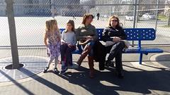 At The P.S.144 Playground (Joe Shlabotnik) Tags: galaxys5 sarahp sue lily 2017 april2017 violet cameraphone playground