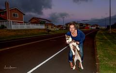 Sue & Sitka Walk in Luala'i April 2017 (JUNEAU BISCUITS) Tags: pet dog siberianhusky husky waimea hawaii sunset bigisland kamuela portrait nikond810 nikon