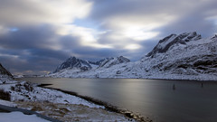 the beautiful cold flow (lunaryuna) Tags: landscape seascape panoramicviews mountainrange seastrait winter season seasonalwonders le longexposure sky fleetingclouds stream flow snow light thelightfantastic weathermood lunaryuna