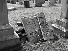 Ketoctin Baptist Church Yard (Photo Squirrel) Tags: grave gravestone graveyard gravemarker headstone tombstone cemetery purcellvillevirginia virginia monochrome grayscale broken shattered
