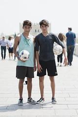 Boys, Showing Off Football Skills, Roman Bridge, Cordoba, Spain (JonnySyer66) Tags: cordoba travelphotography boys espana streetphotography streetfootball streetsoccer spain córdoba