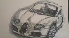 Bugatti Veyron (Unmarriedswede) Tags: sports car bugatti veyron art design sketch drawing
