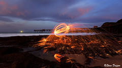 0S1A5459 (Steve Daggar) Tags: catherinehillbay sunset seascape nswcentralcoast gosford wharf jetty firetwirling steelwooltwirling longexposure