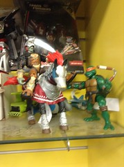 Toybiz Legend of Zelda Phantom Ganon with Horse and Playmates Michelangelo (splinky9000) Tags: ottawa canada comic book shoppe toy biz the legend of zelda ocarina time ganondorf phantom ganon horse action figure toys playmates teenage mutant ninja turtles michelangelo