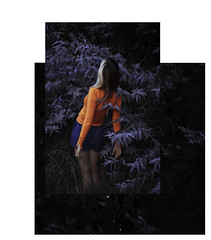(▲·stardust) Tags: girl levitate gravity up impulse contrast cold environment collage superposition plants forest woods trees leaves dreamy