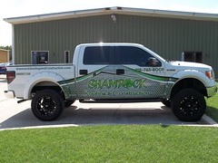 100_2411 (zakschroeder) Tags: shamrockroofingconstruction shamrockroofingandconstruction src markmccaleb mm fordf150 whitefordf150 whitef150 boltfenderflares customfenderflares partialwrap partialtruckwrap truckwrap partialf150wrap partialfordf150wrap roofing construction contractor builder green black white grey gray fourleafclover irish ireland curtiselam ce flatbed flat bed truck wrap graphic graphx design wrapped vehicle vehiclegraphics vehiclewrap wrapokc wrapokccom gallery