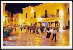 """""""La Passeggiata"""" (""""SnapDecisions"""" photography) Tags: puglia oria italy passeggiata evening walk brushstroke nikon d700 hirschfeld piazza manfredi plaza"""