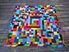 I layout a round of 1 x 3 Bauhaus crochet rectangles (crochetbug13) Tags: crochet crocheted crocheting crochetsquares crochetblocks crochetrectangles crochetblanket crochetafghan multicolorcrochetsquares