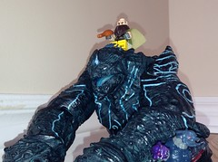 Lord Hammerhead's Steed (splinky9000) Tags: kingston ontario the tyranny of lord hammerhead lego toys minifigures hobbit dwalin dwarf egyptian pharaoh pacific rim kaiju neca leatherback action figure