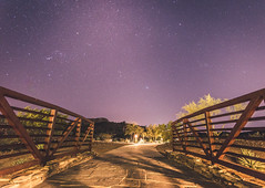 The bridge to darkness (DST-photography) Tags: star stars astro photography d7100 estrella phoenix goodyear airport trainee pilot night long exposure 1020mm sigma 1020 mm milkyway adobe photoshop lightroom edited purple blue bridge tower green lights stone park amazing epic dramatic travel travelling arizona usa america american daan steinhaus dstphotography aviatioin