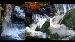 Water (evisdotter) Tags: water triptyk spring nature light colors collage allpicssooc ice reflections waterfall