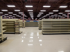 Empty Shelves... (Nicholas Eckhart) Tags: america us usa columbus ohio oh retail stores hilliard former closed empty closing gianteagle supermarket groceries interior