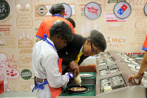 KidZania Tour for Kids with disabilities: Yummy pizza making in process at Kidzania Delhi NCR.