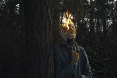 PhotoForge - Post Fire Photography (Kavan The Kid) Tags: kavan kid fire photography post self portrait tutorial how strange dark beauty surreal surrealism art abstract flame burning burn weird photoshop create creepy pain 365project eerie photoforge