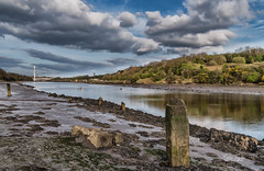 River Wear Low Tide (robinta) Tags: river wear water reflections canoe bridge landmark decay clouds sky mud sunderland pentax sigma18200mmhsmc ks1 robintaylorphotography staithes colors colour wood tidal england ngc