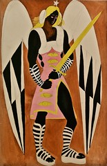 """Custom design for the Angel in the """"Auto da Alma"""" by Gil Vicente"""" staged by Almada Negreiros, played by Rey Colaço Robles Monteiro Company (1965) - José de Almada Negreiros (1893-1970) (pedrosimoes7) Tags: josédealmadanegreiros autodaalma gilvicente angel anjo reycolaçoroblesmonteirocompany caloustegulbenkianmuseum moderncollection lisbon portugal museu musée museum creativecommons cc masterpiecemansion ✩ecoledesbeauxarts✩ artgalleryandmuseums"""
