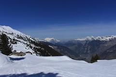 Lourtier- cabane Brunet (bulbocode909) Tags: valais suisse lourtier valdebagnes cabane brunet montagnes nature paysages printemps neige arbres bleu alpages écuries chalets