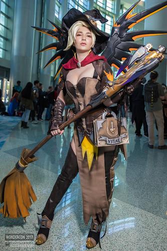 Wondercon 2017 Cosplay Mercy Witch By Akemi Hogan A Photo On