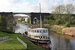 'Daniel Adamson' Sutton Weaver 12th April 2017 (John Eyres) Tags: daniel adamson her first outing year taking members trip along ship canal river weaver seen here moored for night by sutton swing bridge navigation 120417