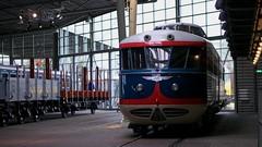 NS train on display (Long Sleeper (busy!)) Tags: museum hetspoorwegmuseum thedutchrailwaymuseum display train utrecht holland thenetherlands lumixg425mmf17asph dmcgx1