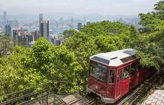 Peak Tram (shashin62) Tags: hongkong thepeak tram panorama transport hongkongharbour