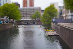 Canal (Selphybrand) Tags: miniature tilt shift 50mm canal river boat bokeh art street water