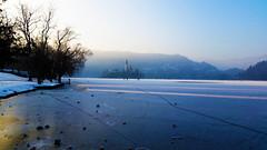 bled (my lala) Tags: bled lake frozen winter ice light slovenia slovenija