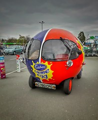 Creme Egg car (paulfarrington46) Tags: cadburys creme egg car morley leeds eggsellent asda hss