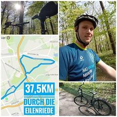 Heute konnte ich mich erst spät von Netflix wegreißen. Doch die Sonne draußen hat gewonnen. Erst kurz zu @boc_bike_and_outdoor_company dann ab in die Eilenriede. Momentan wechsel ich immer zwischen Laufen und Fahrradfahren. Durch die Eilenriede ging es 37