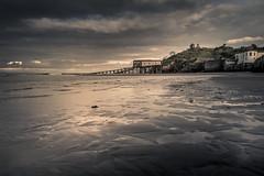 Tenby Lifeboat Station (garethleethomas) Tags: lifeboat coast beach lowtide shore shoreline buildings moody dark seascape landscape uk wales pembrokeshire greatbritain seaside