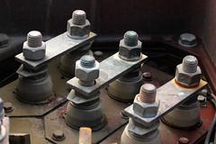 No Input (gripspix (BUY BUY! OFF NOW!)) Tags: storage motor scrapyard quarrel schrottplatz lagerplatz steibruch 250kw 20141014 anschlussklemmen terminalclamp