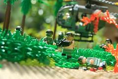 Vietnam, 1972 (LoganLego) Tags: lego helmet camo vietnam helicopter jungle pouch custom combat ammo printed rare bootlegs commando boonie helmets sog rares m60 customlego brickarms customprinted rareprint ammochain legovietnam citizenbrick modernbrickwarfare outdoorlegos