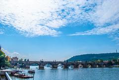 Praha (Pauline Kletti) Tags: bridge summer prague prag praha ciel t extrieur vltava stcharles