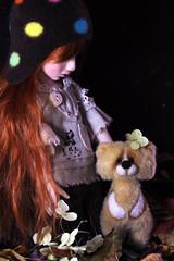 Amadea and Ukrainian friend (bentwhisker) Tags: bear doll teddy craft bjd resin ukrainian 3573 souldoll rabarem