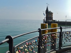 Germany - the Home of Padlock Love (mikecogh) Tags: tower love still calm shore locks bodensee konstanz padlocks commitment lakeconstance