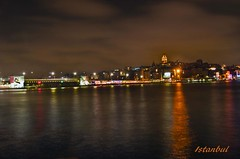 Galata bridge and tower Istanbul at night (saleem shahid) Tags: