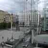 Vistas a la plaza (vcastelo) Tags: madrid españa reina spain arte centro hamilton sofía escalera richard museo vistas cristal ascensor nacional reflejos exposición hueco