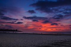 La Jolla - 5 minutes after sunset (Alessio Corsi) Tags: california sunset sky cloud sun beach clouds la nikon san surf tramonto nuvole nuvola sandiego diego lajolla cielo sole spiaggia jolla d90 nikond90