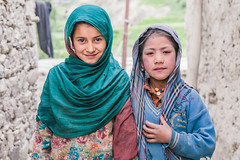 Girls from Karche Khar near Kargil, India