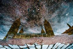 Pcsi Szkesegyhzi Plbnia (forceberg) Tags: autumn color reflection church rain stone mirror nikon hungary angle basilica wide sigma sidewalk reflected reflect rainy mirrored 1020 ultra pcs 2014 10mm mecsek baranya dunntl d7k d7000