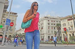 Greece, Macedonia, Thessaloniki, girl on her mobile at Aristotelous square (Macedonia Travel & News) Tags: macedonia ancient culture vergina sun thessaloniki orthodox republic nato eu fifa uefa un fiba greecemacedonia macedonianstar verginasun aegeansea macedoniapeople macedonians peopleofmacedonia macedonianpeople mavrovo macedoniablog 27604628 springs vevčani vevčanirepublic macedoniagreece makedonia timeless macedonian macédoine mazedonien μακεδονια македонија travel prilep tetovo bitola kumanovo veles gostivar strumica stip struga negotino kavadarsi gevgelija skopje debar matka ohrid heraclea lyncestis macedoniatimeless