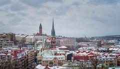 Gothenburg cityscape (Martin Wahlborg) Tags: gteborg vinter sn utsikt skansenkronan hustak